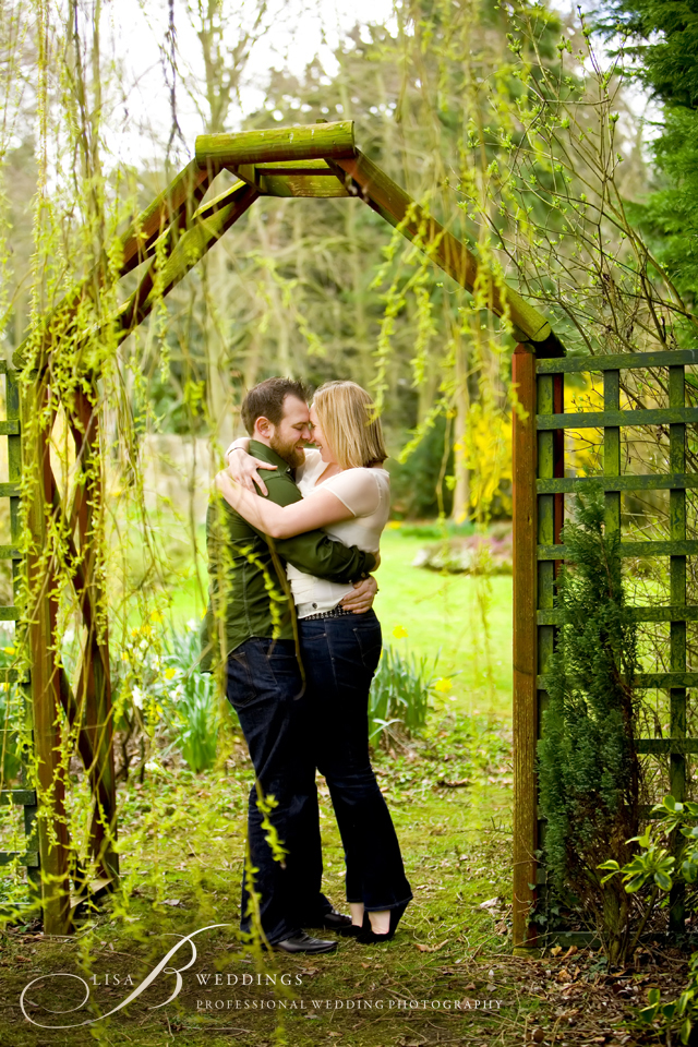 photo of wedding couple in garden