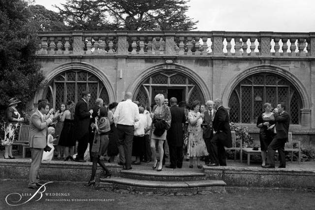 Rushton Hall courtyard wedding photographers