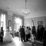 Rushton hall blank and white wedding photography