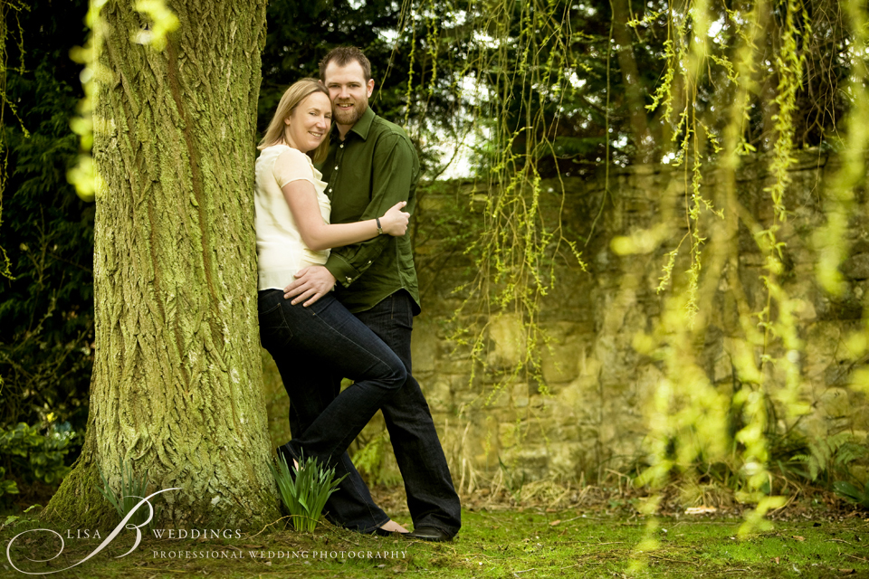 here is a photo of a engaged couple in my garden