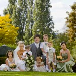 bride-and-children-photo-in-garden