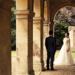 Wedding photo at Castle Ashby by Lisa Burrett