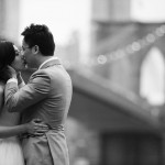 Brooklyn Bridge pre wedding shoot by Lisa Burrett