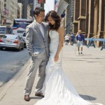 Cherry and Man in New York pre wedding shoot