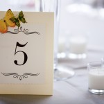 photo of handmade table numbers