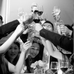 Photo of Chinese friends toasting at their wedding