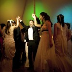 Dancing inside marque at Kemble Inn by Lisa Burrett