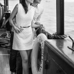 pre wedding couple on star ferry