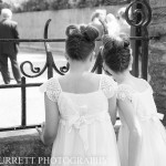 Beautiful back shots of little bridesmaids