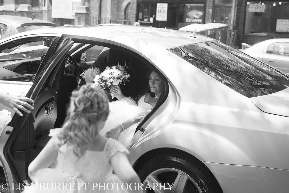 Bride arriving in a Phoenix class car